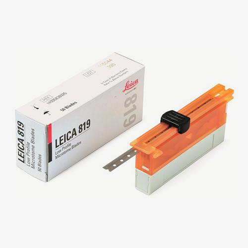 Navalha descartável Leica de Baixo Perfil modelo 819 para micrótomo e criostato.